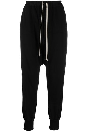 Rick Owens Men Pants - Logo patch detail track pants