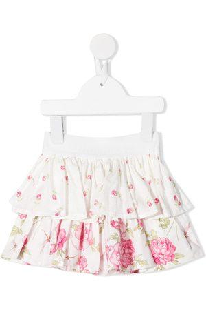 MONNALISA Floral-print ruffled skirt