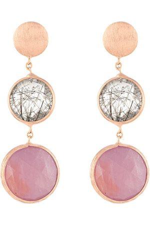 Tateossian 14kt Kensington drop earrings