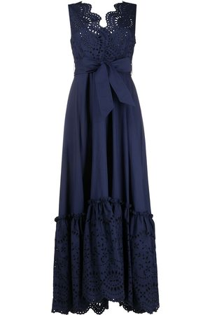 P.a.r.o.s.h. Broderie anglaise belted maxi dress