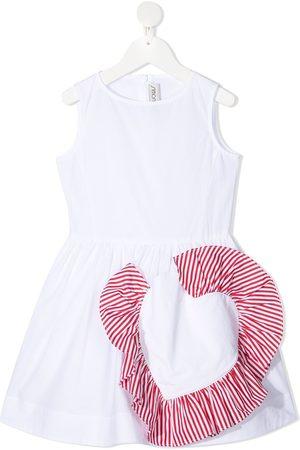 Simonetta Sleeveless cotton A-line dress