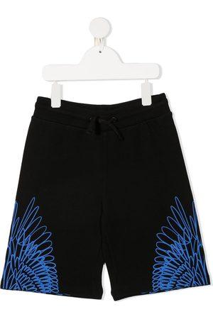 MARCELO BURLON Boys Shorts - Wings print track shorts