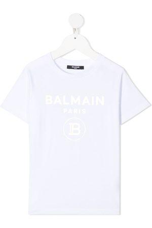 Balmain Foil logo-print T-shirt