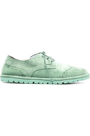 MARSÈLL Women Brogues - Suede-effect lace-up brogues