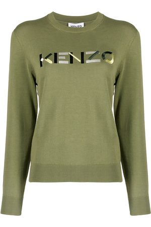 Kenzo Women Jumpers - Embroidered logo crew neck jumper