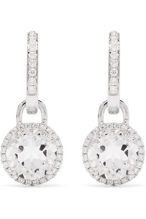 Kiki Mcdonough 18kt white gold diamond hoop earrings