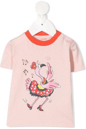 Stella McCartney Dancing bird print T-shirt
