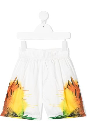 MARCELO BURLON Wings-print swim shorts