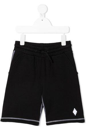 MARCELO BURLON Contrast stitching track shorts
