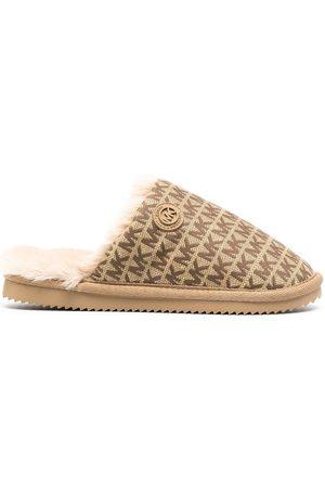Michael Michael Kors Janis logo jacquard slippers