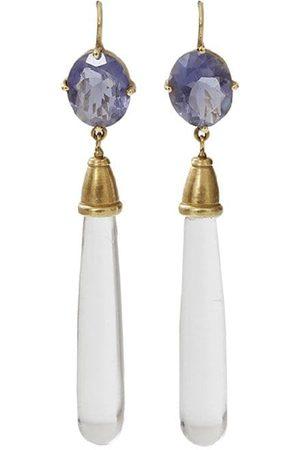 Q Jewelry Design 18kt yellow iolite drop earrings