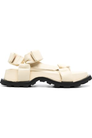 Jil Sander Chunky leather touch strap sandals