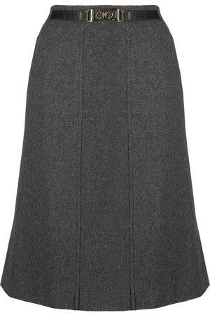 Céline Pre-owned belted knee-length skirt
