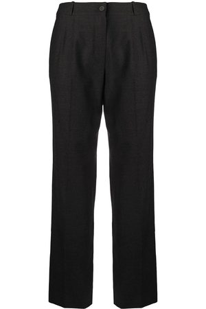 CHANEL Pleat detailing tailored trousers