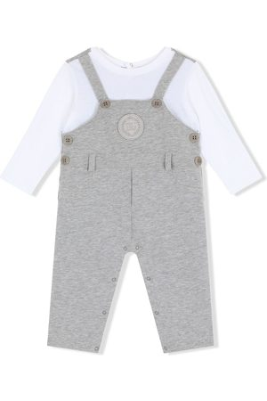 Dolce & Gabbana Baby Rompers - Dungarees-style logo-patch romper
