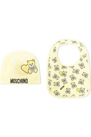 Moschino Teddy bear-print beanie set