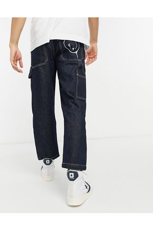 Levi's Men Tapered - Levi's Youth tapered carpenter crop jeans in smile more wash