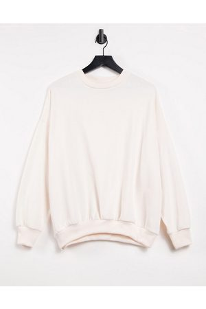 ASOS Women Sweatshirts - Oversized cosy cocoon sweatshirt in bone