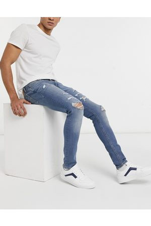 Jack & Jones Men Skinny - Intelligence Liam skinny jeans with rips in