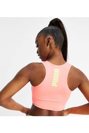 PUMA Women Sports Bras - Exclusive to ASOS bra in peach with logo