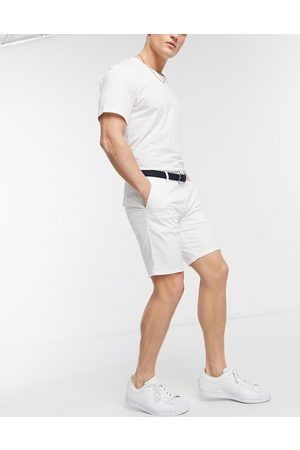 River Island Men Shorts - Slim belted chino shorts in