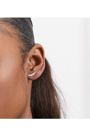 Kingsley Ryan Ear climber in sterling with pave crystals