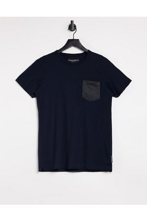 French Connection Contrast pocket t-shirt in