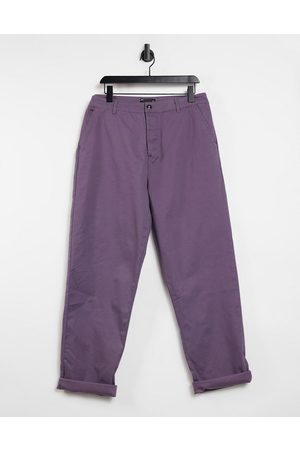 ASOS Men Chinos - Relaxed skater chinos in mauve