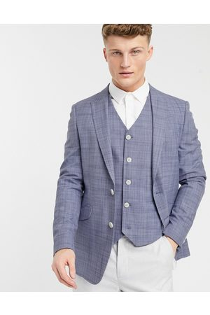 ASOS Wedding skinny suit jacket in crosshatch