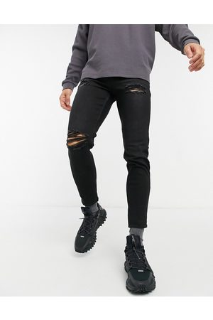 New Look Men Tapered - Tapered jeans with rips in