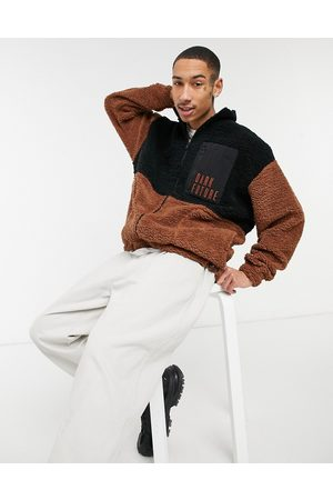 ASOS Teddy borg track top in colour block