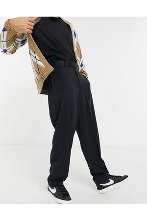 ASOS High waist slim smart trousers in