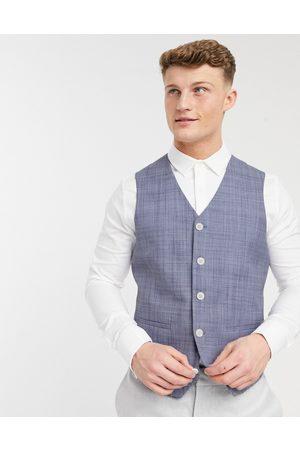 ASOS Men Waistcoats - Wedding skinny suit waistcoat in crosshatch