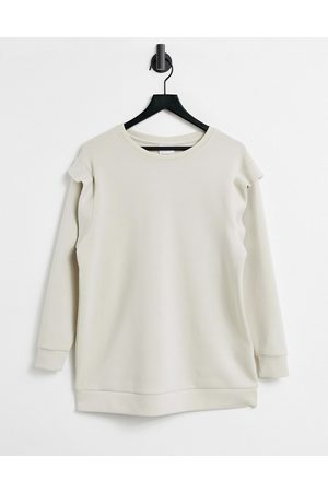 Only Long line sweat top with shoulder detail in
