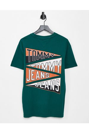 Tommy Hilfiger Repeat college flag logo back print t-shirt in