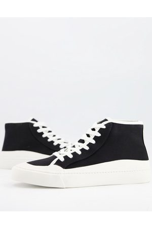 ASOS Lace up plimsolls in faux suede