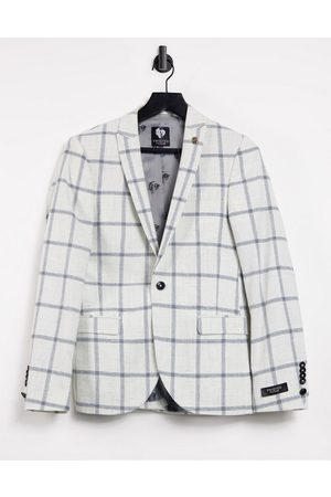 Twisted Tailor SB1 Peak Jacket in windowpane check