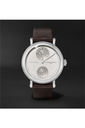 Laurent Ferrier Men Watches - École Régulateur Automatic 40mm Stainless Steel and Leather Watch, Ref. No. LCF026.AC.GN1.1