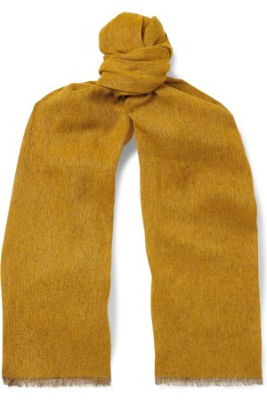 Loro Piana Baby Scarves - Fringed Mélange Baby Cashmere and Linen-Blend Scarf