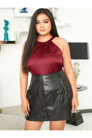 YOINS Plus Size Halter Backless Design Sleeveless Cami