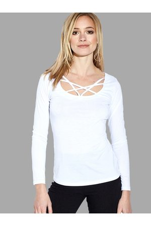 YOINS See-through Sexy Crossed Straps T-shirt