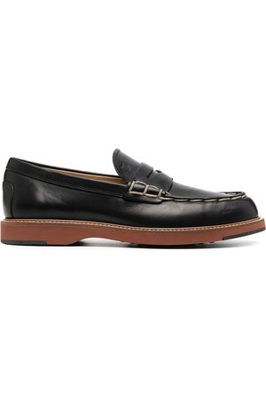 Tod's Contrast stitching chunky sole loafers