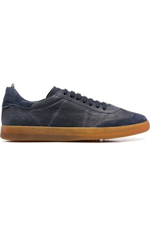 Officine creative Perforated detail lace-up sneakers