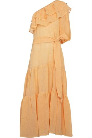Lisa Marie Fernandez Arden linen-blend gauze maxi dress