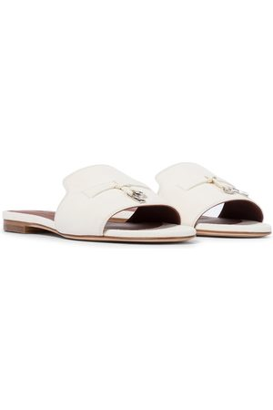 Loro Piana Women Sandals - Summer Charms suede sandals