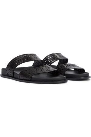 Alaïa Women Flats - Flat leather sandals