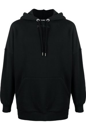 Palm Angels Men Sweatshirts - Logo print oversized hoodie