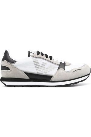 Emporio Armani Men Sneakers - Panelled low-top sneakers
