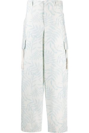 Jacquemus Men Cargo Pants - Leaf print cargo trousers