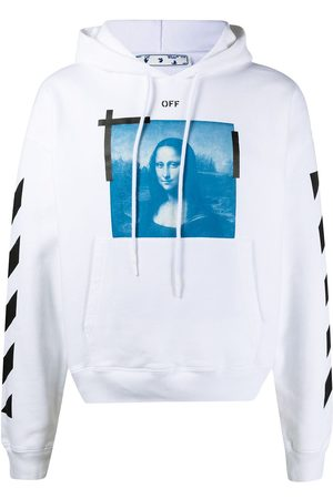 OFF-WHITE Men Sweatshirts - Graphic-print drawstring hoodie